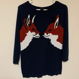 Ann Taylor Fox sweater size xs